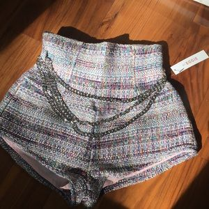 High waisted tweed funfetti shorts